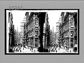 view [Street scene, with Trinity Church, New York. Active no. 10713 : stereo interpositive,] digital asset: [Street scene, with Trinity Church, New York. Active no. 10713 : stereo interpositive,] 1910.