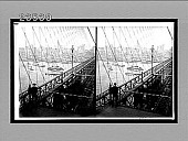 view From Brooklyn Bridge W. to famous skyscrapers of lower New York. No. 10715 : stereoscopic interpositive digital asset: From Brooklyn Bridge W. to famous skyscrapers of lower New York. No. 10715 : stereoscopic interpositive, 1910.