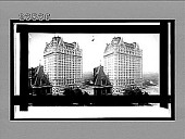 view Plaza Hotel (cost {dollar}12,500,000), with glimpse of Cornelius Vanderbilt home. [Active no. 10727 : stereo interpositive,] digital asset: Plaza Hotel (cost {dollar}12,500,000), with glimpse of Cornelius Vanderbilt home. [Active no. 10727 : stereo interpositive,] 1910.