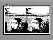 view Looking through arch of Washington Bridge over Speedway to Hall of Fame. [Active no. 10732 : stereo interpositive,] digital asset: Looking through arch of Washington Bridge over Speedway to Hall of Fame. [Active no. 10732 : stereo interpositive,] 1910.