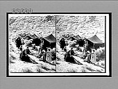 view A Bedouin camp on the Israelites' old ground at base of Mount Sinai. The Wanderings of Israel. 10825 Interpositive digital asset: A Bedouin camp on the Israelites' old ground at base of Mount Sinai. The Wanderings of Israel. 10825 Interpositive 1910.