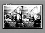 view Assorting wool into three grades prior to its manufacture into cloth. [Active no. 11219 : stereo interpositive.] digital asset: Assorting wool into three grades prior to its manufacture into cloth. [Active no. 11219 : stereo interpositive.]