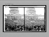 view President Wilson delivering his Inaugural Address, U.S. Capitol. [Active no. 11352 : stereo interpositive,] digital asset: President Wilson delivering his Inaugural Address, U.S. Capitol. [Active no. 11352 : stereo interpositive,] 1913.