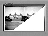 view The Reichstag and the statue of Bismarck, Berlin. 11358 interpositive digital asset: The Reichstag and the statue of Bismarck, Berlin. 11358 interpositive.
