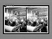 view Twisting (new method) in a modern plain silk weaving mill, Paterson, N.J. 11447 interpositive digital asset: Twisting (new method) in a modern plain silk weaving mill, Paterson, N.J. 11447 interpositive 1913.