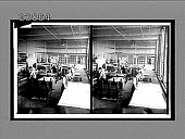 view [Men and women workers at tables in a silk factory.] 11451 interpositive digital asset: [Men and women workers at tables in a silk factory.] 11451 interpositive.