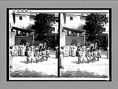 view Little girls jumping rope in the garden of Catholic school, Barranquilla, Colombia, S.A. [Active no. 11515 : stereo interpositive,] digital asset: Little girls jumping rope in the garden of Catholic school, Barranquilla, Colombia, S.A. [Active no. 11515 : stereo interpositive,] 1906.
