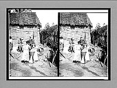 view Women pounding corn for bread in the yard of a Barranquilla home, Colombia, S.A. 11519 interpositive digital asset: Women pounding corn for bread in the yard of a Barranquilla home, Colombia, S.A. 11519 interpositive 1906.