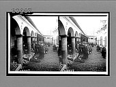 view Indian bread market in La Paz, Bolivia. [Active no. 11533 : stereo interpositive,] digital asset: Indian bread market in La Paz, Bolivia. [Active no. 11533 : stereo interpositive,] 1906.