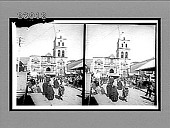 "view Church ""San Francisco"" and typical street scene in La Paz, Bolivia. [Active no. 11538 : stereo interpositive,] digital asset: Church ""San Francisco"" and typical street scene in La Paz, Bolivia. [Active no. 11538 : stereo interpositive,] 1906."