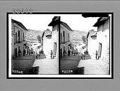 "view The ""ups and downs"" of La Paz, city of 40 hills, Calle de Graneros, Bolivia. [Active no. 11539 : stereo interpositive,] digital asset: The ""ups and downs"" of La Paz, city of 40 hills, Calle de Graneros, Bolivia. [Active no. 11539 : stereo interpositive,] 1906."