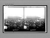 view Baldwin dirigible airship, ready to ascend, Aero Club carnival, Arlington, N.J. [Active no. 11775 : stereo interpositive.] digital asset: Baldwin dirigible airship, ready to ascend, Aero Club carnival, Arlington, N.J. [Active no. 11775 : stereo interpositive.]