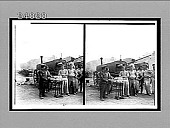 view [Army bread-baking crew in action outdoors.] [Active no. 11824 : stereo Interpositive.] digital asset: [Army bread-baking crew in action outdoors.] [Active no. 11824 : stereo Interpositive.]