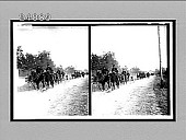 view [Soldiers on horse-drawn carts along country road.] 11893 Interpositive digital asset: [Soldiers on horse-drawn carts along country road.] 11893 Interpositive.