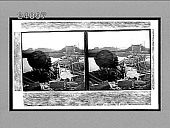 view [Severely damaged two-line railroad bridge with destroyed train engine.] 11898 Interpositive digital asset: [Severely damaged two-line railroad bridge with destroyed train engine.] 11898 Interpositive.