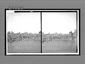 view [Line of horse-drawn artillery pieces in field.] 11913 Interpositive digital asset: [Line of horse-drawn artillery pieces in field.] 11913 Interpositive.