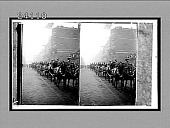 view [Cavalry troops parade down city street in England.] 11911 Interpositive digital asset: [Cavalry troops parade down city street in England.] 11911 Interpositive.