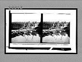 view [Soldiers cross floating wooden bridge.] 12263 interpositive digital asset: [Soldiers cross floating wooden bridge.] 12263 interpositive.