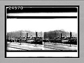 view [Low view of river boat at dock on Rhine in Germany;fortress on hill in background.] 14393 interpositive digital asset: [Low view of river boat at dock on Rhine in Germany;fortress on hill in background.] 14393 interpositive.
