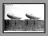 view [R34 dirigible prepared for take-off.] [Active no. 14427 : stereo interpositive.] digital asset: [R34 dirigible prepared for take-off.] [Active no. 14427 : stereo interpositive.]