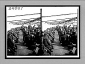 view [Crowd of soldiers on river boat with bridge in background. Active no. 14508 : stereo interpositive.] digital asset: [Crowd of soldiers on river boat with bridge in background. Active no. 14508 : stereo interpositive.]