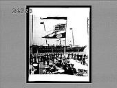 view [Ceremonies aboard ship in harbor in England.] 385 interpositive digital asset: [Ceremonies aboard ship in harbor in England.] 385 interpositive 1902.