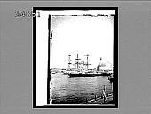 "view The Yacht ""Alexandria"" conveying the German Emperor--passing the German Cadet Ship ""Charlotta,"" St. Petersburg. 1082 Interpositive digital asset: The Yacht ""Alexandria"" conveying the German Emperor--passing the German Cadet Ship ""Charlotta,"" St. Petersburg. 1082 Interpositive 1897."