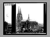 view The cathedral, the world's finest Gothic structure (towers 512 feet high), Cologne. 1229 Interpositive digital asset: The cathedral, the world's finest Gothic structure (towers 512 feet high), Cologne. 1229 Interpositive 1900
