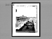 view [Overview of plaza fountain and Brandenburg Gate in Berlin.] 1342 interpositive digital asset: [Overview of plaza fountain and Brandenburg Gate in Berlin.] 1342 interpositive 1896.