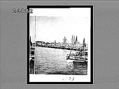 view [Rhine River and Cologne Cathedral in Germany.] 1373 interpositive digital asset: [Rhine River and Cologne Cathedral in Germany.] 1373 interpositive 1900.