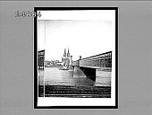 view [Cologne Cathedral and bridge over Rhine River in Germany.] 1375 interpositive digital asset: [Cologne Cathedral and bridge over Rhine River in Germany.] 1375 interpositive 1900.