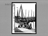 view Beside the Zuider Zee--thrifty Dutch villagers on the fishermen's wharf at Volendam. 1524 Interpositive digital asset: Beside the Zuider Zee--thrifty Dutch villagers on the fishermen's wharf at Volendam. 1524 Interpositive 1905