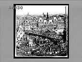 """view Rue [de] Rivoli, Hotel de Ville, Church St. Gervais, and Bastille Monument in distance, from St. Jacques. (""""Rue de Rivoli and the City Hall, Paris"""" on envelope.) Caption no. 1554 : interpositive digital asset: Rue [de] Rivoli, Hotel de Ville, Church St. Gervais, and Bastille Monument in distance, from St. Jacques. (""""Rue de Rivoli and the City Hall, Paris"""" on envelope.) Caption no. 1554 : interpositive, 1905."""
