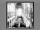 view Interior of the great Notre Dame Cathedral, Paris. [Active no. 1558 : non-stereo interpositive,] digital asset: Interior of the great Notre Dame Cathedral, Paris. [Active no. 1558 : non-stereo interpositive,] 1905.