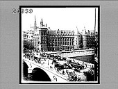 view The Palace of Justice and the Bridge au Change, old City Island, Paris. 1563 Interpositive digital asset: The Palace of Justice and the Bridge au Change, old City Island, Paris. 1563 Interpositive.