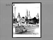 view Beautiful Trocadero fountains and Pavilion of Russian Colonies. [Active 1670 : stereo interpositive from stereo pair,] digital asset: Beautiful Trocadero fountains and Pavilion of Russian Colonies. [Active 1670 : stereo interpositive from stereo pair,] 1900.