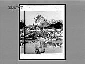 view [Homes along waterway in Switzerland.] 1862 interpositive digital asset: [Homes along waterway in Switzerland.] 1862 interpositive 1906.