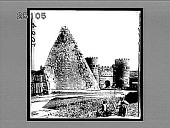 view The Gate of St. Paul and Pyramid of Gaius Cestius, Rome. 2004 Interpositive digital asset: The Gate of St. Paul and Pyramid of Gaius Cestius, Rome. 2004 Interpositive 1907.