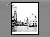 view The Venetian Lion, in the Piazzette--from the Lagoon, Venice. 2152 Interpositive digital asset: The Venetian Lion, in the Piazzette--from the Lagoon, Venice. 2152 Interpositive 1905.