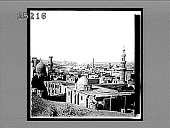view Cairo, looking S.W. across city to Pyramids that furnished stone for many of its buildings. 2521 Interpositive digital asset: Cairo, looking S.W. across city to Pyramids that furnished stone for many of its buildings. 2521 Interpositive 1897.