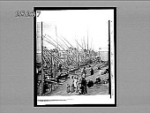 view [Line of boats on river.] 2633 interpositive digital asset: [Line of boats on river.] 2633 interpositive.