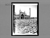view Devout Mohammedans prostrate at prayer time--Court of Jumma Musjid, India's greatest mosque, Delhi. 3467 Interpositive digital asset: Devout Mohammedans prostrate at prayer time--Court of Jumma Musjid, India's greatest mosque, Delhi. 3467 Interpositive 1908.