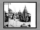 view Suttee pillar at a Benares burning ghat, where Hindu widows died on their husband's funeral pyres. 3494 interpositive digital asset: Suttee pillar at a Benares burning ghat, where Hindu widows died on their husband's funeral pyres. 3494 interpositive.