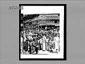 view [Crowded street and homes, Sri Lanka. Active no. 3773 : non-stereo interpositive.] digital asset: [Crowded street and homes, Sri Lanka. Active no. 3773 : non-stereo interpositive.]