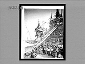 view Splendid honors to a dead Buddhist--elevating coffin in car to a gilded shrine, Mandalay, Burma. 3820 Interpositive digital asset: Splendid honors to a dead Buddhist--elevating coffin in car to a gilded shrine, Mandalay, Burma. 3820 Interpositive.