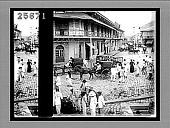 view Rosario Street and Binondo Church, from the Pasig River, Manila. 4552 Interpositive digital asset: Rosario Street and Binondo Church, from the Pasig River, Manila. 4552 Interpositive.