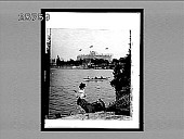 view Frontenac Hotel, from Little Round Island, Thousand Islands, St. Lawrence River. 4744 interpositive digital asset: Frontenac Hotel, from Little Round Island, Thousand Islands, St. Lawrence River. 4744 interpositive.