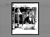 view The Hon. William Jennings Bryan in his home library, Lincoln, Nebraska. Active no. 5019 : interpositive digital asset: The Hon. William Jennings Bryan in his home library, Lincoln, Nebraska. Active no. 5019 : interpositive, ca. 1900.