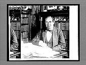view The Hon. William Jennings Bryan in his home library, Lincoln, Nebraska. [Caption no. 5019 : glass interpositive,] digital asset: The Hon. William Jennings Bryan in his home library, Lincoln, Nebraska. [Caption no. 5019 : glass interpositive,] ca. 1900.