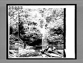 view Curtain Falls--a pretty nook in picturesque Havana Glen. 5492 interpositive digital asset: Curtain Falls--a pretty nook in picturesque Havana Glen. 5492 interpositive.